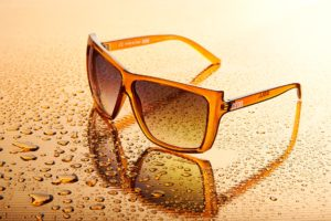 occhiali plastica trasparente brown