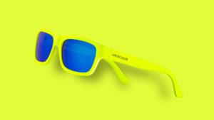 occhiali giallo fluo