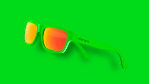 occhiali green fluo