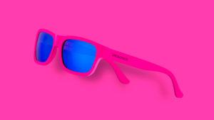 occhiali pink fluo