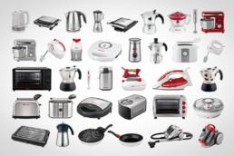 collage di elettrodomestici e caffettiere Bialetti e Girmi